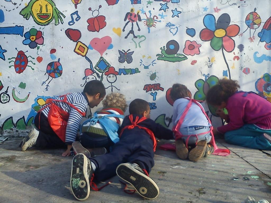 Pintamos el muro de la Alegría!