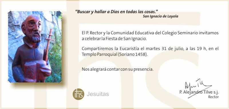 Invitación Misa San Ignacio 2012